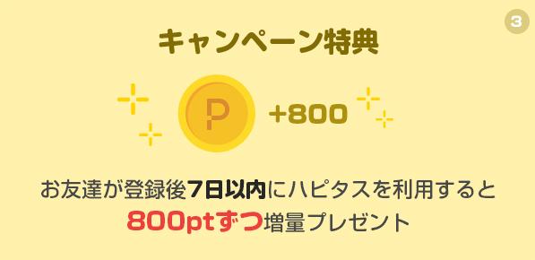 ハピタスの新規登録キャンペーンで計1,000円(2018年11月実施)