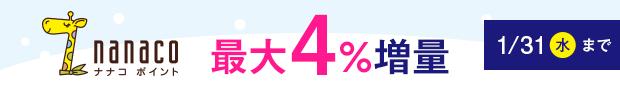 ドットマネーからnanacoポイントへ交換すると4%増量するキャンペーン