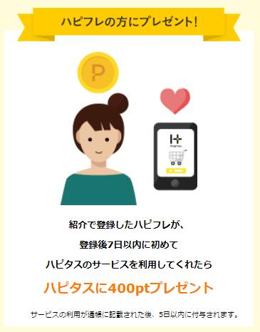 ハピタスフレンドの紹介特典(ハピフレ)