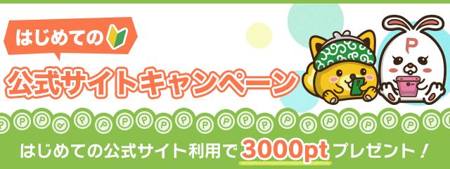 ポイントインカム「はじめての公式サイトキャンペーン」で3,000ポイント(300円)